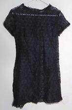 Scott McClintock Women's Black All Lace A Line Fit And Flare Mini Dress Size 10