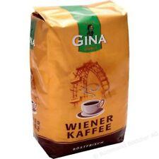 6 x 1,0 KG Gina Wiener Kaffee ganze Bohnen 6 kg , 6000 gramm