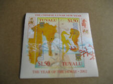 TUVALU  2002 CHINESE  NEW YEAR-YEAR OF HORSE  SOUVENIR SHEET