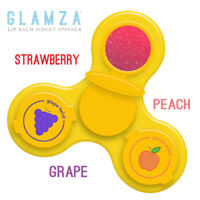 Lip Balm Fidget Spinner Cream Finger 3 Fruit Flavoured Lip Balms Gloss Spin Glam