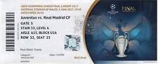 Reproducción Real Madrid 2017 Juventus Campeones LGE final Personalizadas Ticket