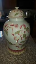 LARGE CHINESE FAMILLE ROSE PORCELAIN TEMPLE JAR CHING DYNASTY T`UNG CHIH 1862-74