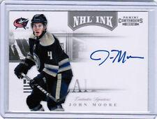 11/12 PANINI CONTENDERS JOHN MOORE #13 NHL INK AUTO COLUMBUS BLUE JACKETS