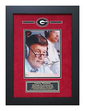 Larry Munson Georgia Bulldogs Autographed 8x10 Framed Photo Color Pic in Booth