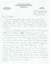 COLD WAR EVIDENCE OF ATTEMPTED ESPIONAGE ? -APL SCIENTIST LETTER TO RUSSIAN 1946