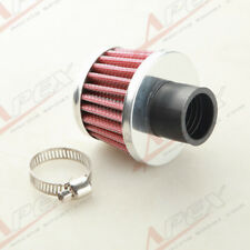 """Universal 25mm 1"""" Car Cold Air Intake Filter Turbo Vent Crankcase Breather Red"""