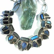 LABRADORIT Collier Kette 925 Silber UNIKAT Gothic EDEL necklace
