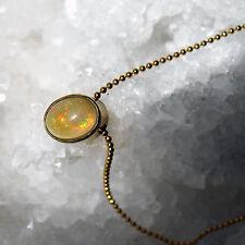 äthiopien crystal opal mit 1mm goldfilled kugel kette, fassung 925 silber verg.