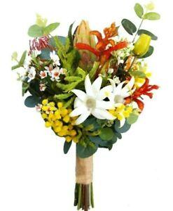 Colourful Australian Native Flower Bouquet for Aussie Bride - Artificial Flowers