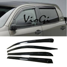 4pcs Sun/Rain Guard Vent Shade Window Visors Fit 07-17 Toyota Tundra Crew Max