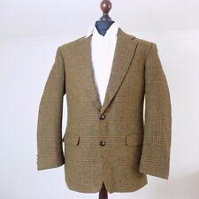 Vintage Quilted Tweed Hunting Jacket 40 M Windowpane Brown Shooting Check Coat M