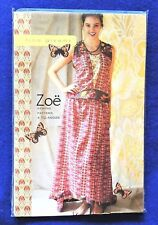 Zoe Dress Tina Givens Sewing Pattern #TG-A6026 * 4 Adult Sizes Fits 2 to 12 New