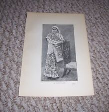 1900 Antique Print A HINDU LADY in Typical Dress Portrait