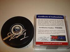 Jhonas Enroth Signed Buffalo Sabres Hockey Puck Autographed Go Sabres PSA/DNA a