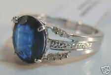 14KW Gold 1.76 Carat Kyanite & Diamond Ring-BLUE!