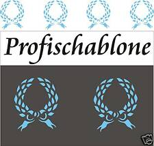 Dekorschablone, Wandschablone, Stencil, Malerschablone, Dekorfries, Lorbeerkranz