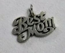 JAMES AVERY Sterling Silver Best Mom Charm Pendant