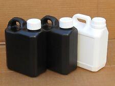3X Easy Store / Easy Pour Darkroom Chemical Storage Bottles - 1L (2x B 1x W)