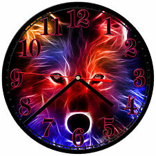 "8"" WALL CLOCK - Wolf 30 Wolves Spiritual - Kitchen Office Bathroom Bar Bedroom"