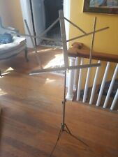 Classic Vintage Metal Collapsible Music Stand for instruments or voice