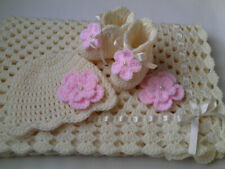 Crochet Pattern Baby Blanket, Hat and  Booties, SAME DAY DELIVERY TO YOUR EMAIL.