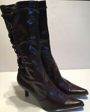 Franco Sarto Woman's Boots Brown Pointy Toe Knee High Sz 11