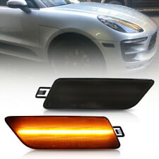 Smoked Lens Amber Led Front Bumper Side Marker Light for 2014-2020 Porsche Macan