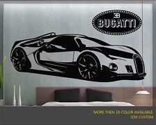 Bugatti Renaissance GT Racing Sports Car Removable Wall Vinyl Decal Sticker