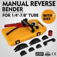 """Multi Manual Pipe Tube Bender Tool Kit 1/4""""-7/8"""" With 7 Dies Aluminum Copper PVC"""