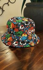 NEW MARVEL COMICS AVENGERS MULTICOLORED BUCKET HAT TODDLER BOYS YOUTH SIZE