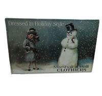 DRESSED HOLIDAY STYLE Marshall & Ball CLOTHIERS Vintage Style Metal Decor Sign