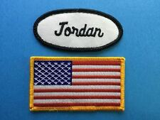 2 Lot William USA Flag Name Tag Employee Uniform Work Shirt Cosplay Patch 223
