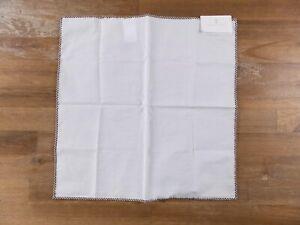 BRUNELLO CUCINELLI white cotton pocket square authentic - NWT