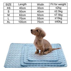 Pet Dog Cat Gel Cooling Mat Comfortable Cool Cushion Pad Summer Sleep Bed Pads