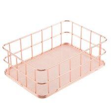 Storage Basket metal Wire Bathroom Shelves Makeup Organiser Rose Gold Brus S8G9