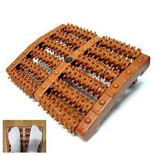 Step Foot Acupressure Roller Natural Wood Reflexology Foot Massage Roller Brown