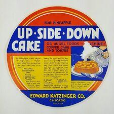 Vtg Crisco Upside Down Cake Recipe Advert Edward Katzinger Tin Pan Co 1940s