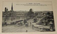Carte Postale 76 ROUEN Pont CORNEILLE - Kiosque MEUNIER MAGGI BYRRH Tramway...