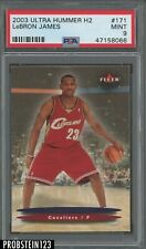 2003-04 Fleer Ultra Hummer H2 #171 LeBron James Cavaliers RC Rookie PSA 9 MINT