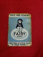 vintage fairy soap 5 cents porcelain gas sign.