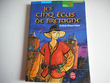 LIVRE DE POCHE - LES CINQ ECUS DE BRETAGNE - EVELYNE BRISOU-PELLEN