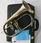 Professional Bb Flugelhorn Antique Horn Monel Valves With 2 Mouth Leather Case