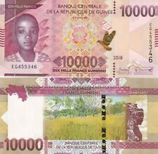 Guinea 2018 year 10000 franc Brand New Banknotes