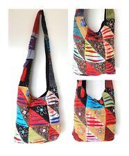 Bag Messenger Sling Crossbody Hobo Hippie Bohemian Embroidered Flower Ripped