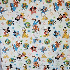 Disney Mickey Mouse Playground Pals Twin Flat Sheet Toddler Kids Bedding