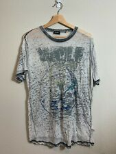 Diesel T-Shirt Gray Size M 53% Cotton 47% Polyester Rare Collectible