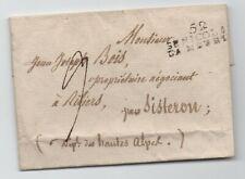 1820 LETTRE MARQUE ST NICOLAS LA MEURTHE MEURTHE ET MOSELLE RARE