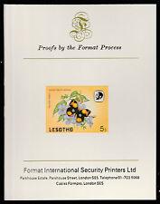 Lesotho (589) 1984 Butterflies 5s imperf on Format International PROOF  CARD