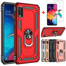 For SAMSUNG GALAXY A10e A01 Phone Case Ring Kickstand Cover+Screen Protector