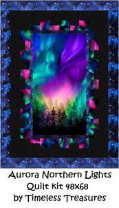 Aurora Northern Lights Quilt top Kit Confident Beginner 48x68 Timeless Treasures